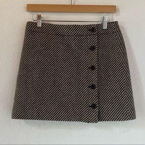 J. Crew Wool Blend Button Down Skirt Size 2